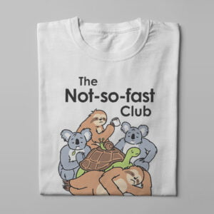 The Not So Fast Club Funny Men's Tee - white - folded long
