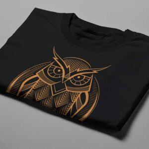 Gamma Ray Owl Geometric Men's Tee - black - folded short