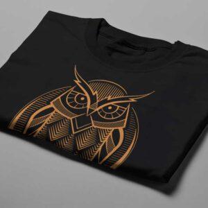 Gamma Ray Owl Geometric Men's Tee - black - folded short