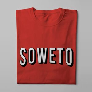 Netflix Soweto Logo Spoof Men's Tee - red - folded long