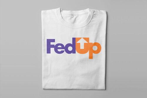 FedUP Fedex Logo Kitchen Dutch Parody Men's Tee - white - folded long