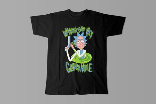 Glory Hole Rick and Morty Kitchen Dutch Parody Men's Tee - black