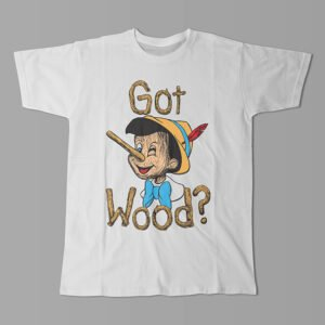 Got Wood Pinocchio Kitchen Dutch Parody Men's Tee - white