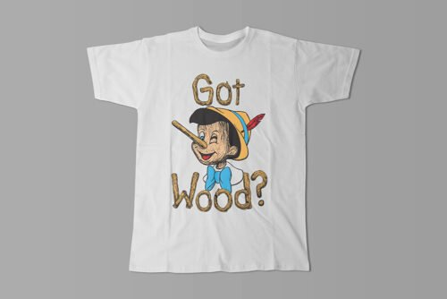 Got Wood Pinocchio Kitchen Dutch Parody Men's Tee - white