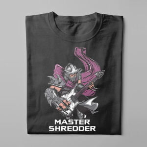 Master Shredder TMNT Kitchen Dutch Parody Men's Tee - black - folded long