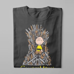 Game of Thrones Charlie Brown Kitchen Dutch Parody Men's Tee - charcoal - folded long
