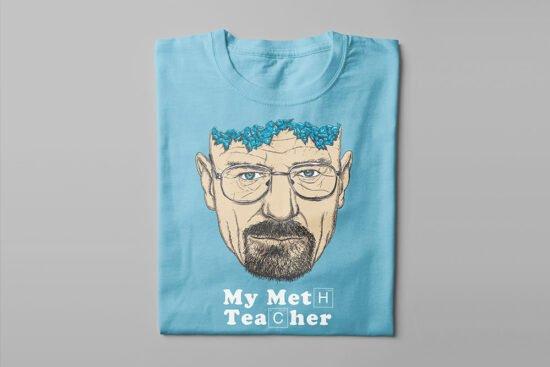 Breaking Bad Meth Teacher Kitchen Dutch Parody Men's Tee - sky blue - folded long