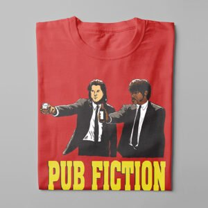 Pulp Fiction Kitchen Dutch Parody Men's Tee - red - folded long