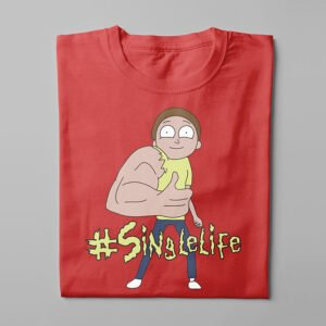 Rick and Morty Singlelife Kitchen Dutch Parody Men's Tee - red - folded long