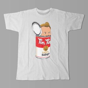 TinTin Ginger Soup Kitchen Dutch Parody Men's Tee - white