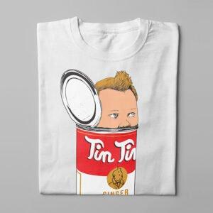 TinTin Ginger Soup Kitchen Dutch Parody Men's Tee - white - folded long