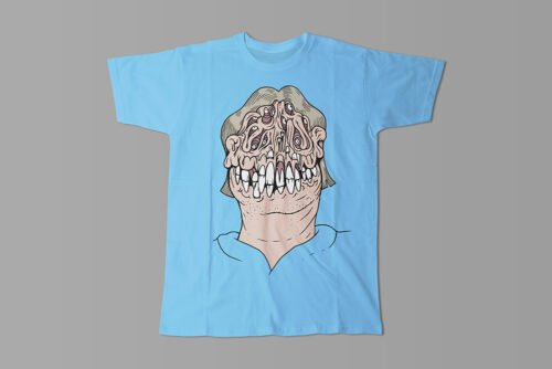 Who's A Pritty Trevor Paul Illustrated Men's Tee - sky blue
