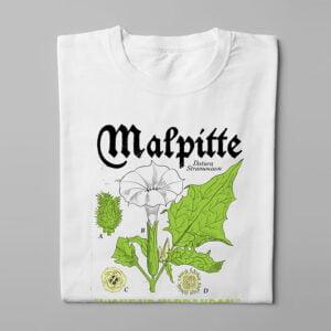 Malpitte Drug Parody Funny Men's Tee - white - folded long