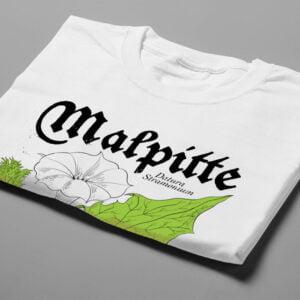 Malpitte Drug Parody Funny Men's Tee - white - folded short