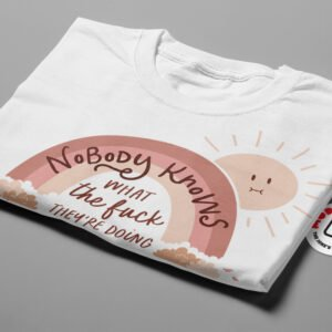 Nobody Knows Funny Covid Men's Tee - white - folded short