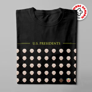 US Presidents Mode:Random Men's Tee - black - folded long