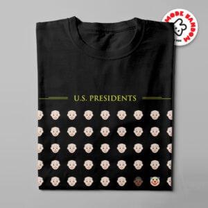 US Presidents Mode:Random Men's Tee - black - folded long