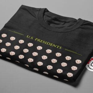 US Presidents Mode:Random Men's Tee - black - folded short