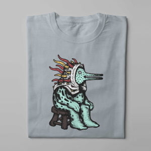 Heironymous Trevor Paul Illustrated Men's Tee - steel - folded long