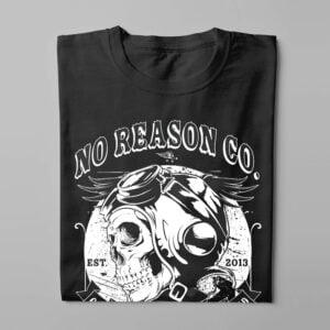 No Reason Steel and Iron Men's Tee - black - folded long