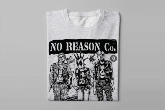 No Reason Wasted Youth Men's Tee - melange - folded long