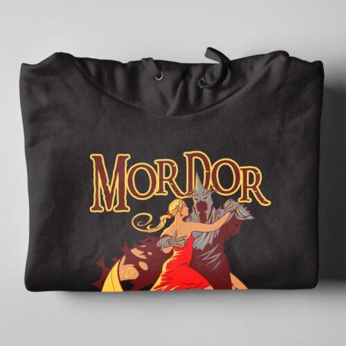 Mordor On The Dancefloor LOTR Tshirt Terrorist Parody Black Hoodie - folded