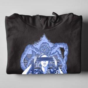 Season Three Stranger Things Fan Art Black Hoodie - folded