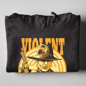 Violent Delights Westworld Fan Art Black Hoodie - folded