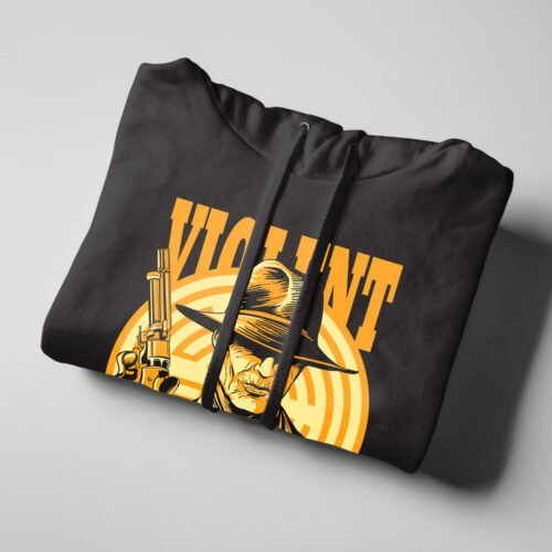 Violent Delights Westworld Fan Art Black Hoodie - folded strings
