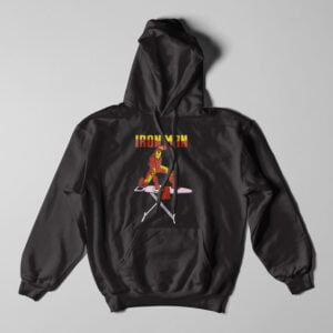 Ironman Ironing Tshirt Terrorist Parody Black Hoodie