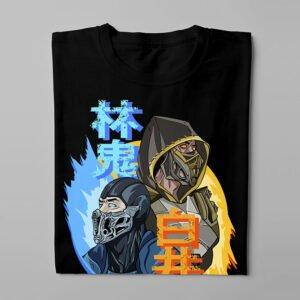 Mortal Kombat Gaming Movie Fan Art Men's T-shirt - black - folded long