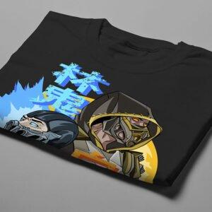 Mortal Kombat Gaming Movie Fan Art Men's T-shirt - black - folded short