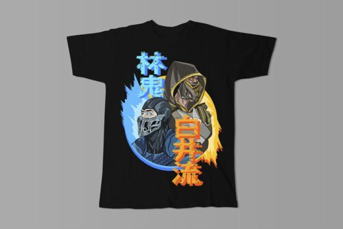 Mortal Kombat Gaming Movie Fan Art Men's T-shirt - black