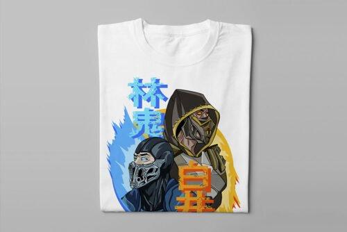 Mortal Kombat Gaming Movie Fan Art Men's T-shirt - white - folded long