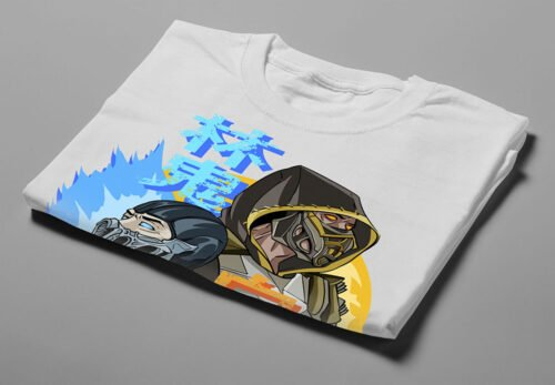 Mortal Kombat Gaming Movie Fan Art Men's T-shirt - white - folded short