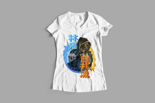 Mortal Kombat Gaming Movie Fan Art Ladies' T-shirt - white
