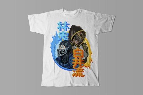 Mortal Kombat Gaming Movie Fan Art Men's T-shirt - white