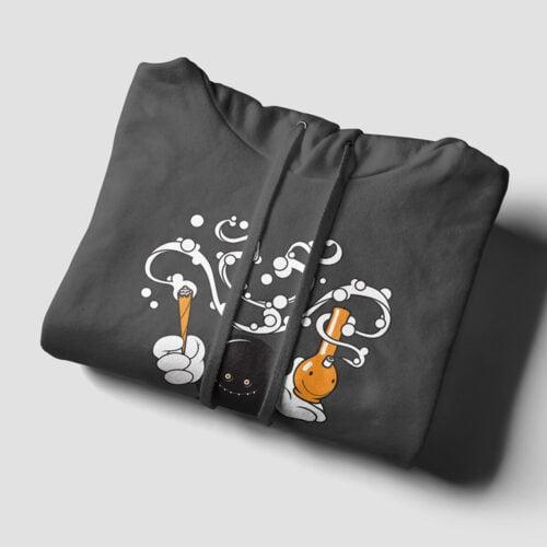 THC Tshirt Terrorist Parody Charcoal Hoodie - folded strings
