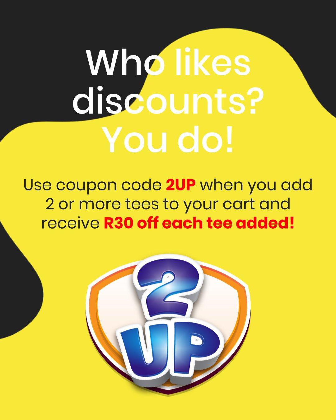 2up discount t-shirt banner