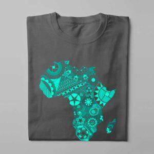 Aztec Africa Laugh it Off Ladies t-shirt - charcoal melange - folded long