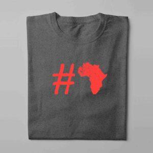 Hashtag Africa Laugh it Off Parody Men's T-shirt - charcoal melange - folded long