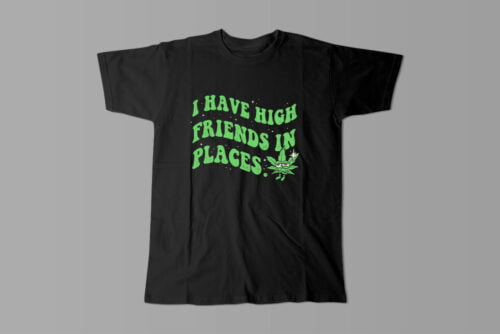 Friends in High Places Stoner Men's T-shirt - black