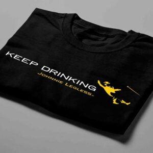 Johnnie Walker Keep Drinking Laugh it Off Parody Men's T-shirt - black - folded short