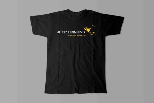 Johnnie Walker Keep Drinking Laugh it Off Parody Men's T-shirt - black