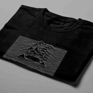 Joy Division Cape Town Laugh it Off Parody Men's T-shirt - black - folded short
