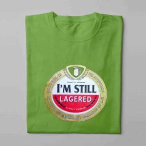 Amstel Lager Laugh it Off Parody Men's T-shirt - green - folded long