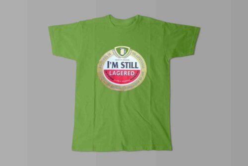 Amstel Lager Laugh it Off Parody Men's T-shirt - green