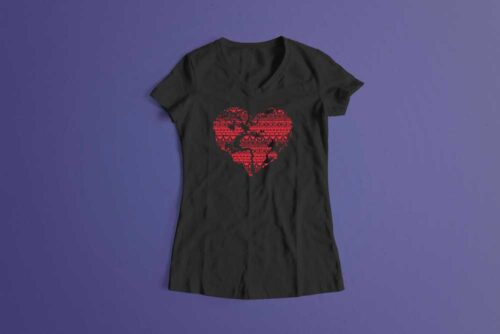 Pangaea Laugh it Off Ladies t-shirt - charcoal melange