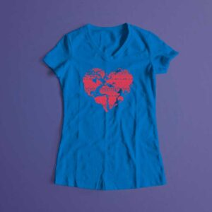 Pangaea Laugh it Off Ladies t-shirt - surf blue