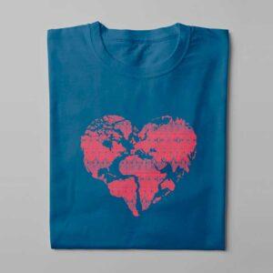 Pangaea Laugh it Off Ladies t-shirt - surf blue - folded long